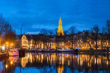 Der Aa-kerk Groningen am Abend von Frenk Volt