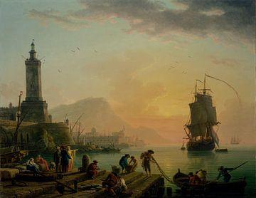 A Calm at a Mediterranean Port van