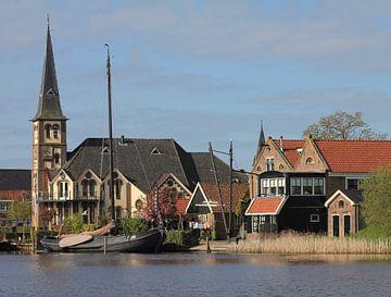 Woudsend in Friesland van bmw motordriver