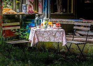 Kleurrijk hotel ontbijt stilleven