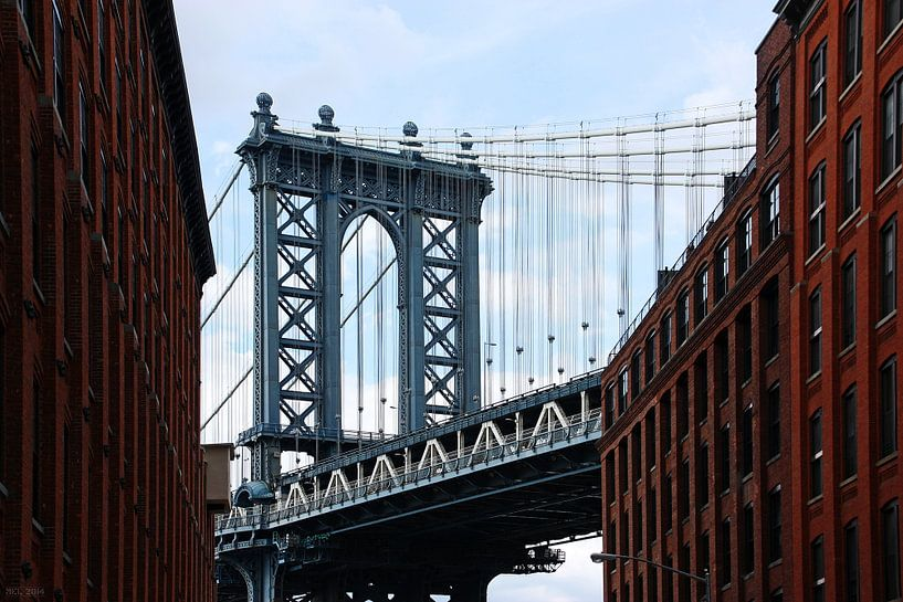 new york city... Manhattanbrug II van Meleah Fotografie
