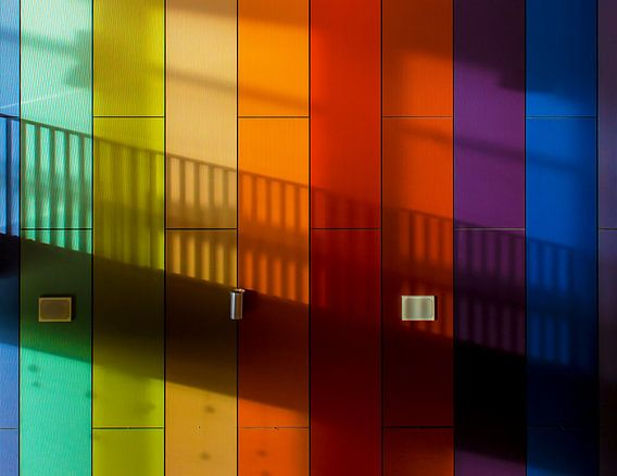 Kleurige muur van Maerten Prins