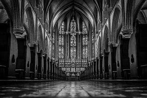 Kerk aan de rademarkt in het zwart/wit