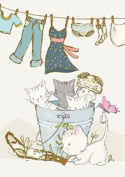 Große Wäsche mit Kätzchen von Lucia