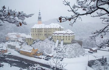 Le château de Weesenstein en hiver sur Sergej Nickel