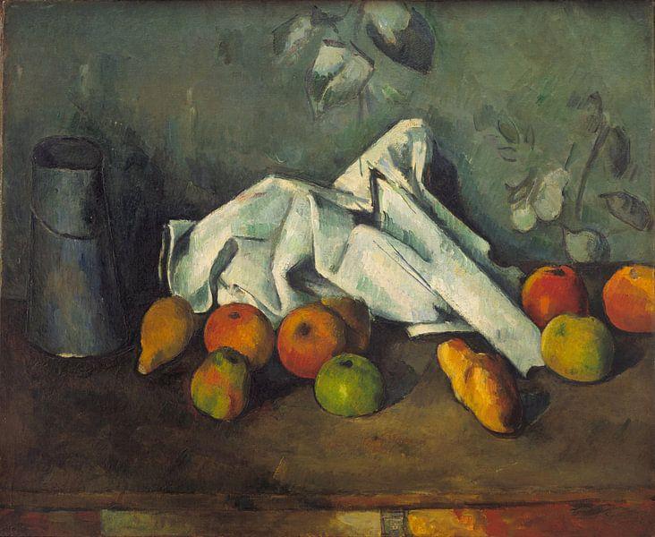 Paul Cézanne. Melkkan en appels van 1000 Schilderijen