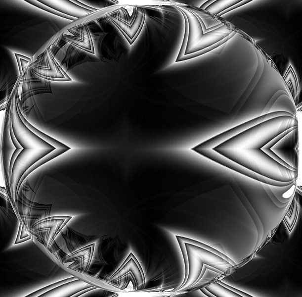 Black Bubble von Nicky`s Prints