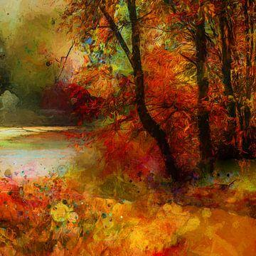 Herfst en bos van Andreas Wemmje