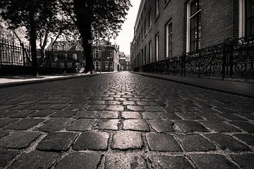 Bossche Straße mit Kopfsteinpflaster von Bert-Jan de Wagenaar