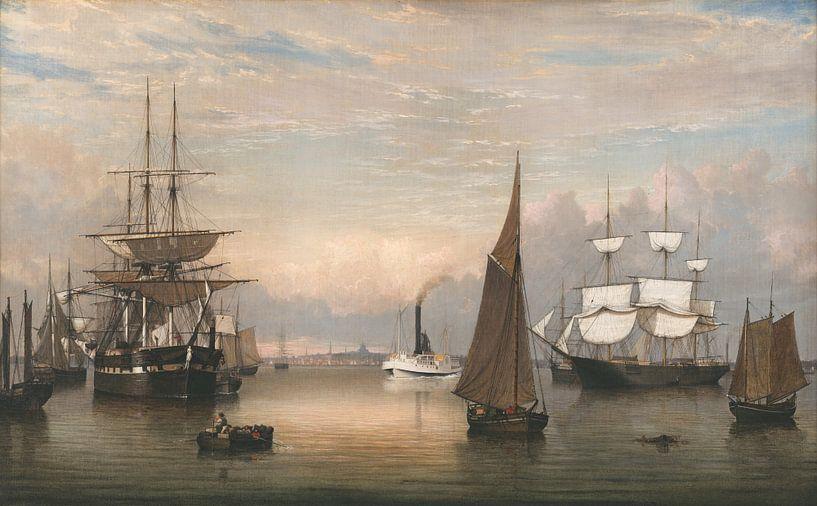 Boston Harbor, Fitz Henry Lane von Meesterlijcke Meesters