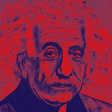 Albert Einstein E = mc 2 von Kathleen Artist Fine Art