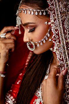 Indische Schönheit von Bram van Dal