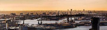 Panorama Rotterdamse Haven van Fred Leeflang