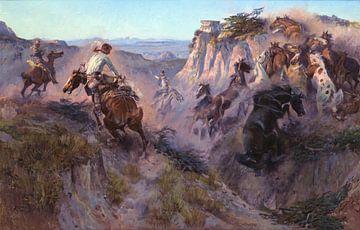 Charles Marion Russell~Wildpferd-Jäger9168