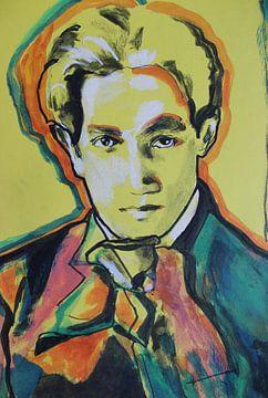 Portret van Schiele van Helia Tayebi Art