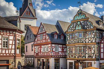 Historische Fachwerkhäuser am Marktplatz von Idstein van Christian Müringer
