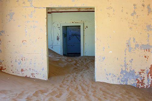 Vervallen ziekenhuis in spookstad, Namibie van