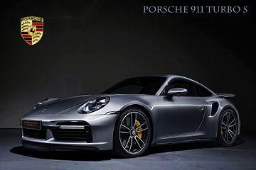 Porsche 911 Turbo S mit Wappen und Text von Gert Hilbink