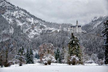 Landschapsfoto van het Slot Neuschwanstein von Bruno Baudry