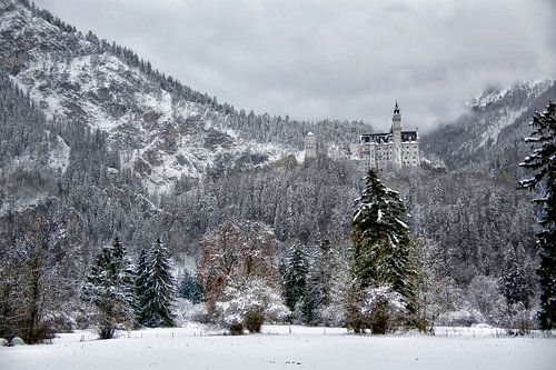 Landschapsfoto van het Slot Neuschwanstein