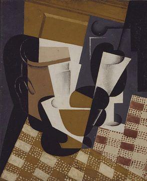 Juan Gris, Wijnkan en glas - 1916 van Atelier Liesjes