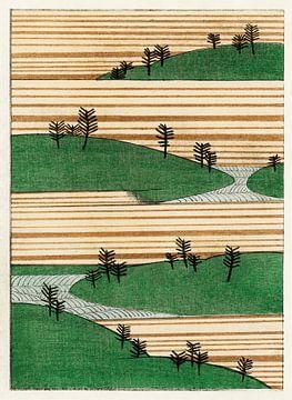 Landschap illustratie, Watanabe Seitei