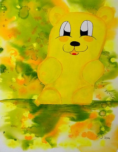 gelber Gummibärenbruder van Patricia Jaqueline