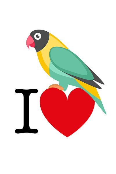 I Love Birds van Harry Hadders