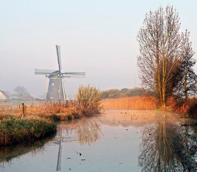 Molen in de polder van Johan Wouters