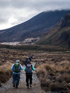 Tongariro Alpine Crossing, Nieuw-Zeeland van Frank den Hond