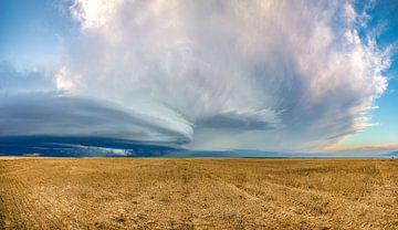 Panorama der kaiserlichen Superzelle (Nebraska) (Foto 5) von Donny Kardienaal