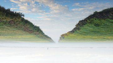 De sloot en het weiland  vanuit een ander perspectief van Michel Geluk