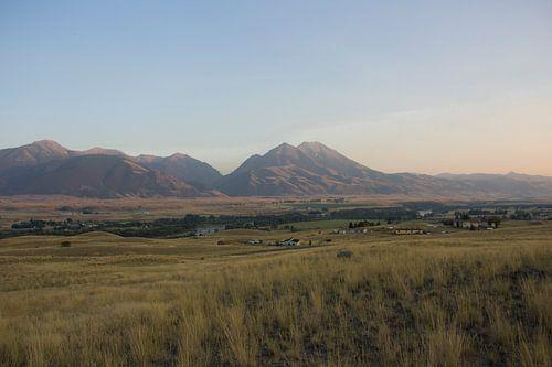 Uitzicht Absaroka Mountains; Wyoming USA van