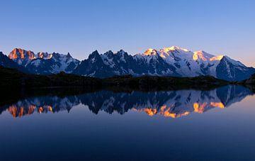 Sonnenaufgang Mont Blanc Massiv von