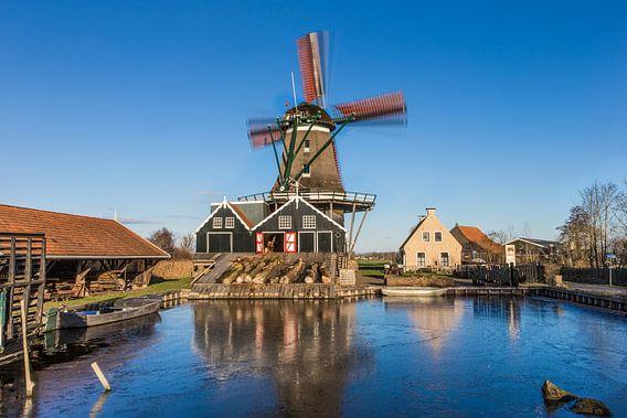 Windmolen De Rat in de stad IJlst in Friesland. Wout Kok One2expose Photography.