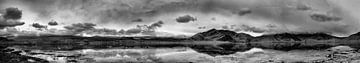 Breed panorama van Karakoram meer, Himalaya