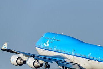 KLM Boeing 747 Jumbojet-Flugzeug startet vom Flughafen Schiphol von Sjoerd van der Wal