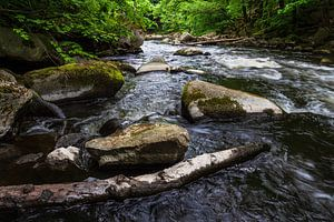Landscape on the river Bode in the Harz area, Germany