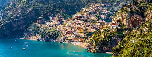 Positano, Amalfi coast in Italy van