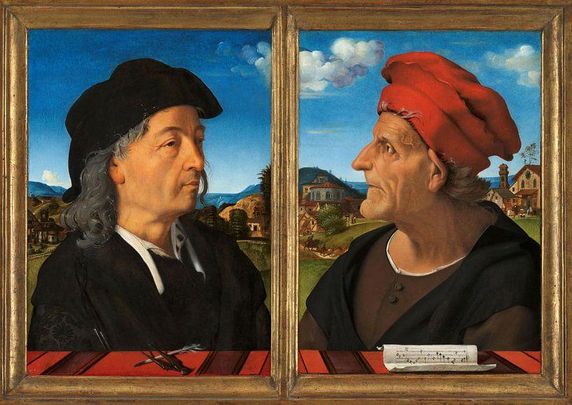 Portretten van Giuliano en Francesco Giamberti da Sangallo, Piero di Cosimo van Meesterlijcke Meesters