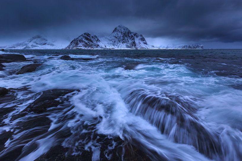 Strand van Vareid, Lofoten. van Sven Broeckx