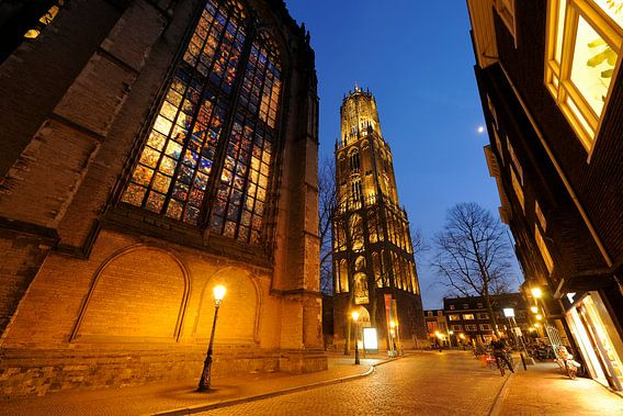 Domkerk en Domtoren in Utrecht (3) van Donker Utrecht