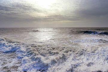 Storm op zee ( Vlissingen) van Els Fonteine