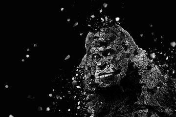 la mosaique du gorille II van Catherine Fortin