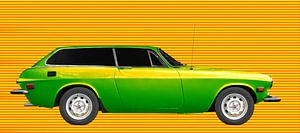 Volvo P1800 ES in green-yellow mixed