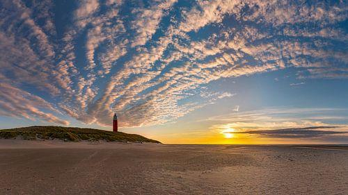 Vuurtoren Eierland Texel - zonsondergang sur
