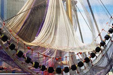 Visnetten op trawler