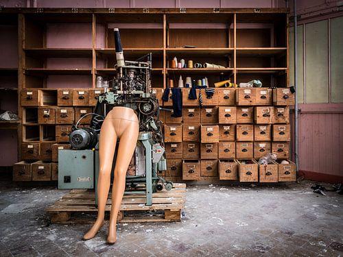 Paspop in fabriek van