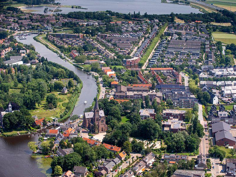 Ouderkerk von oben von Inge Wiedijk