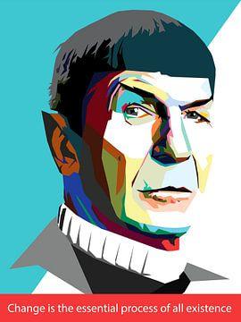Pop Art Spock - Star Trek van Doesburg Design